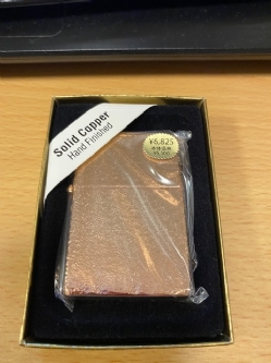 ★☆Zippo ライター Solid Copper Hand Finished 34☆★